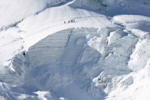 Skitourengruppe Gletscher Saas Fee